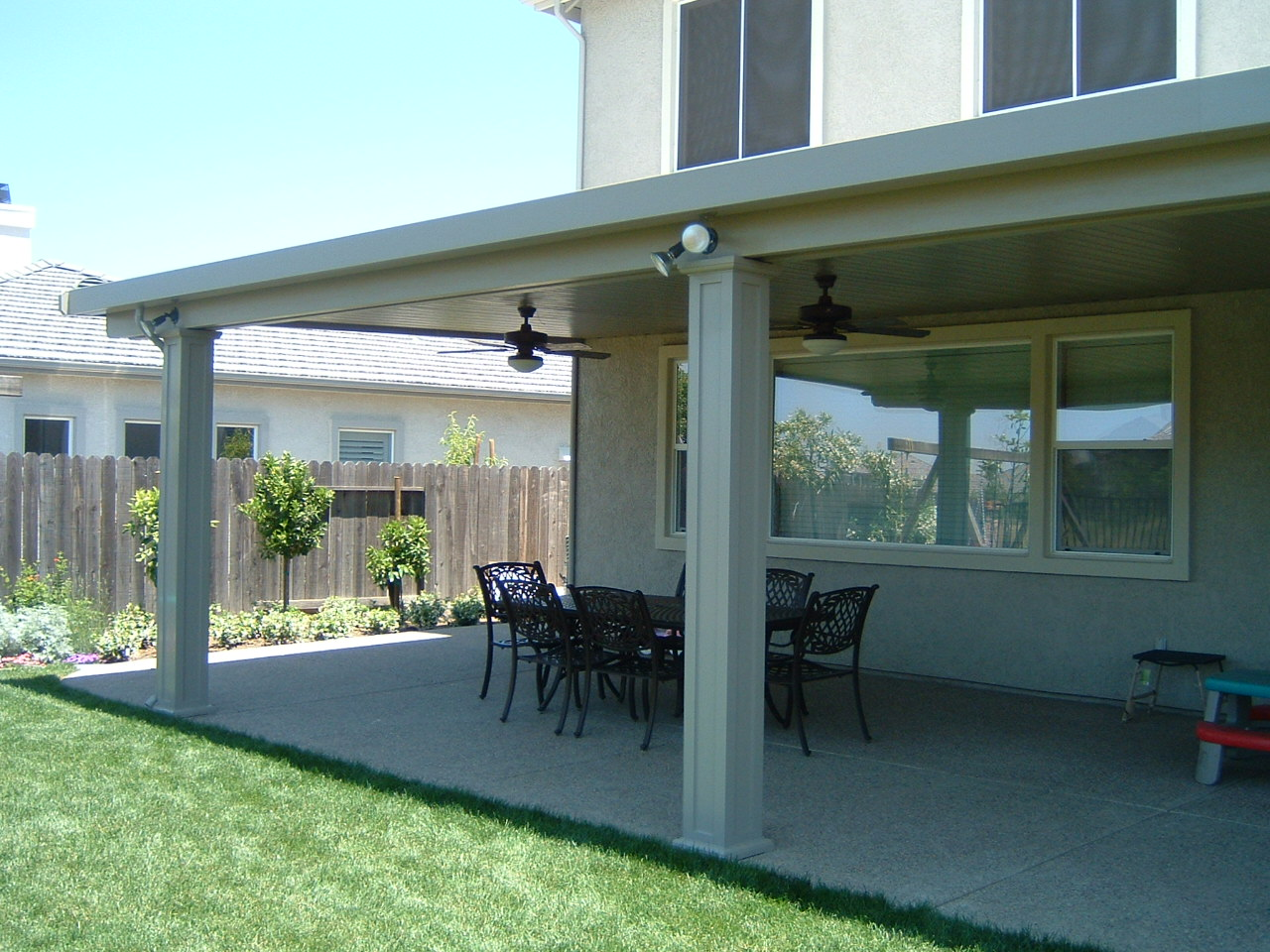 Raised Panel Box Columns On Solid Patio Cover ...